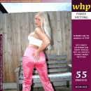 Blonde Beauty Dionne Pees Her Pink Pants And White Cotton Panties