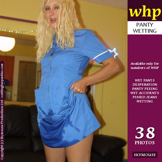 Mystiq - `Mystiq Wets Her Nurse Dress` - by Skymouse for WETTINGHERPANTIES