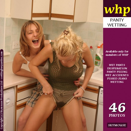 Nicki & Jo May - `Part 2 Of Nicki's Desperation - Jo May's Tickling Is The Last Straw` - by Skymouse for WETTINGHERPANTIES