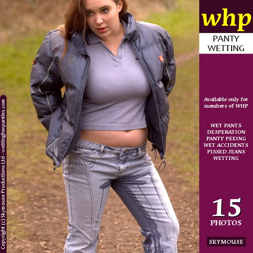 Katie O - `Katie O Does A Straightforward Jeans Wetting` - by Skymouse for WETTINGHERPANTIES