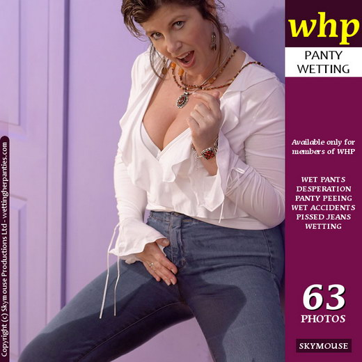Jilly - `Wet Minx Jilly Pees Her Blue Jeans For Fun` - by Skymouse for WETTINGHERPANTIES