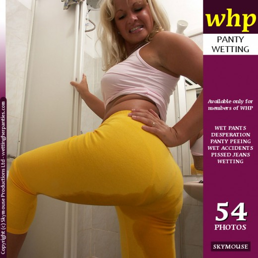 Tamara - `Tamara Has Some Bathroom Fun In Her Bright Yellow Pants` - by Skymouse for WETTINGHERPANTIES