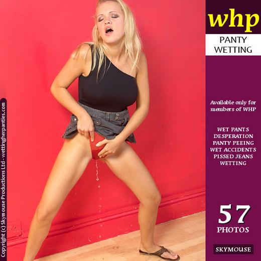 Nicki - `Nicki Enjoys The Warm Wet Pleasure In Her Red Panties` - by Skymouse for WETTINGHERPANTIES
