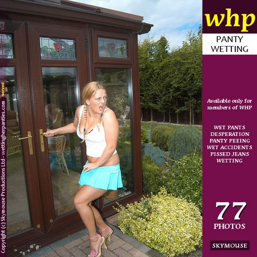 Leah Caprice - `Leah Caprice Gets Caught Short Outside The House` - by Skymouse for WETTINGHERPANTIES