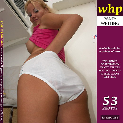 Geraldine - `Geraldine Nonchalantly Pees Her White Panties` - by Skymouse for WETTINGHERPANTIES