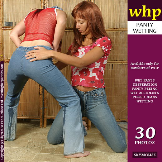 Paige & Frenchie - `Frenchie Wets Her Jeans For Paige` - by Skymouse for WETTINGHERPANTIES