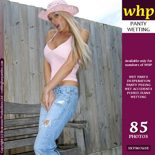 Jamie Lee - `Jamie Lee Pisses Her Light Blue Jeans And Girlie Pink Panties` - by Skymouse for WETTINGHERPANTIES