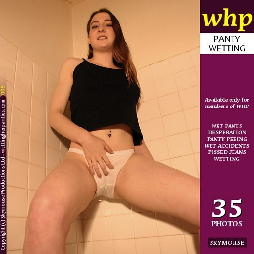 Sheila - `Sheila Deliberately Wets Her White Panties In The Bathroom` - by Skymouse for WETTINGHERPANTIES