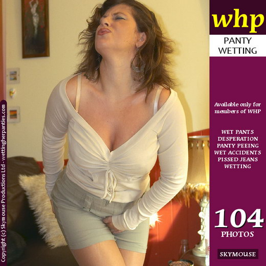 Jilly - `Pantyhose-And-Skirt-Clad Jilly Has A Wet Accident` - by Skymouse for WETTINGHERPANTIES