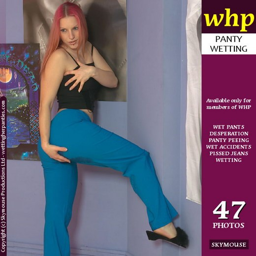 Lotta - `Lotta Wets Her Blue Pants` - by Skymouse for WETTINGHERPANTIES