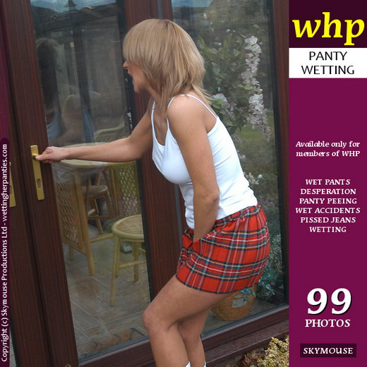 Freya Lee - `Freya Lee Cant Get Into The House In Time` - by Skymouse for WETTINGHERPANTIES
