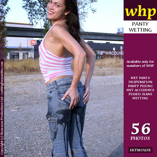 Mandy More - `Mandy More Shows Off Her Wet Jeans In The Car Park` - by Skymouse for WETTINGHERPANTIES
