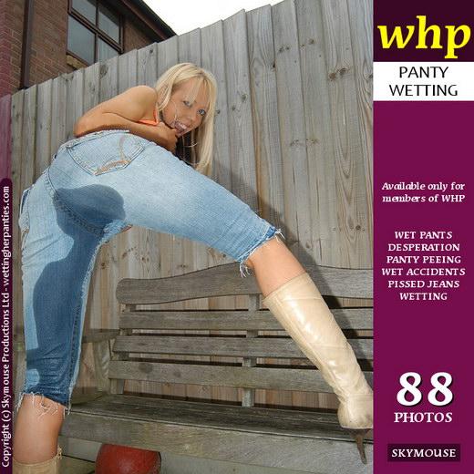 Alyssa - `Alyssa Looks Sweet Peeing Her Blue Jeans` - by Skymouse for WETTINGHERPANTIES