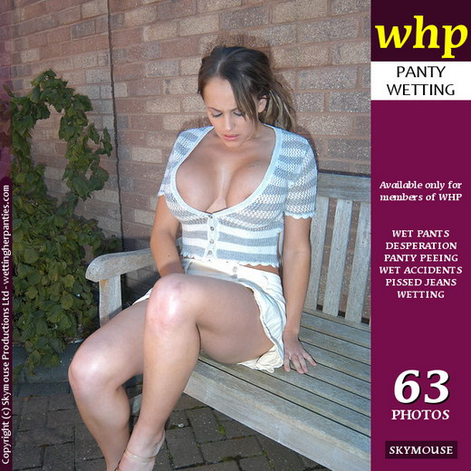 Vickie Powell - `Vickie Powell Sits On The Bench And Shows How Wet She Can Make It` - by Skymouse for WETTINGHERPANTIES