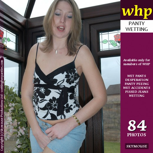 Carolyn - `Carolyn Wets Her Short Skirt And Pink Panties` - by Skymouse for WETTINGHERPANTIES