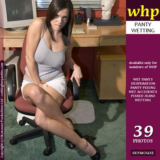 Tasmin - `Desperate Tasmin Loses It In The Office (Part 1)` - by Skymouse for WETTINGHERPANTIES