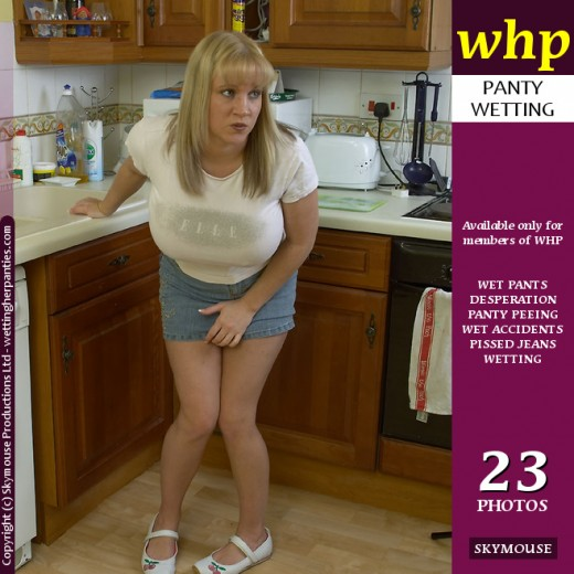 Cherry - `Cherry wets the kitchen floor` - by Skymouse for WETTINGHERPANTIES