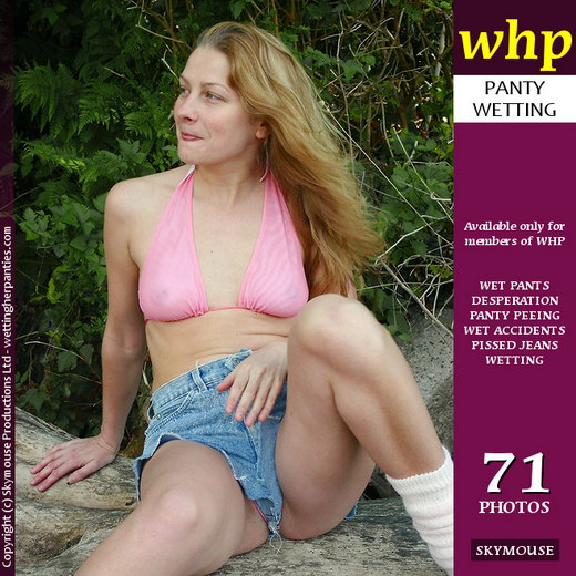 Yuliya - `Yuliya Wets Her Panties And Short Denim Skirt Outdoors` - by Skymouse for WETTINGHERPANTIES