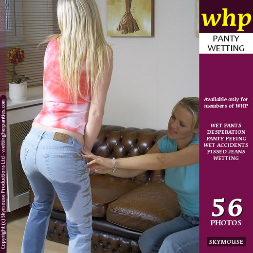 Nicki & Michelle B - `Michelle B Pees Her Jeans With Nicki's Encouragement` - by Skymouse for WETTINGHERPANTIES