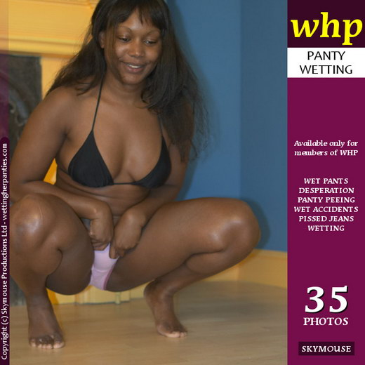 Ebony - `Ebony Wets A Wooden Floor` - by Skymouse for WETTINGHERPANTIES