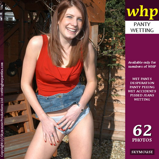 Ashleigh - `Ashleigh Wets Her Pale Blue Panties In The Garden` - by Skymouse for WETTINGHERPANTIES