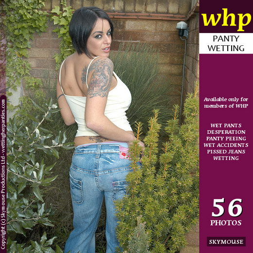 Victoria Brown - `Victoria Brown Drops Her Jeans And Wets Her Pale Blue Panties` - by Skymouse for WETTINGHERPANTIES