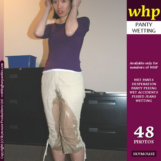 Amy Lee - `Amy Lee's White Pants Get A Real Soaking` - by Skymouse for WETTINGHERPANTIES