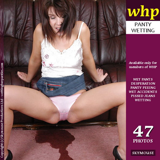 Elle Brook - `Pees Her Pink Panties Under Her Miniskirt Soaking The Carpet` - by Skymouse for WETTINGHERPANTIES