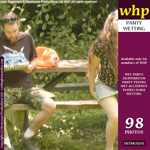 Nicky O - `Screen Caps Nicky O Wets Her Panties In Front Of An Unsuspecting Male Member` - by Skymouse for WETTINGHERPANTIES