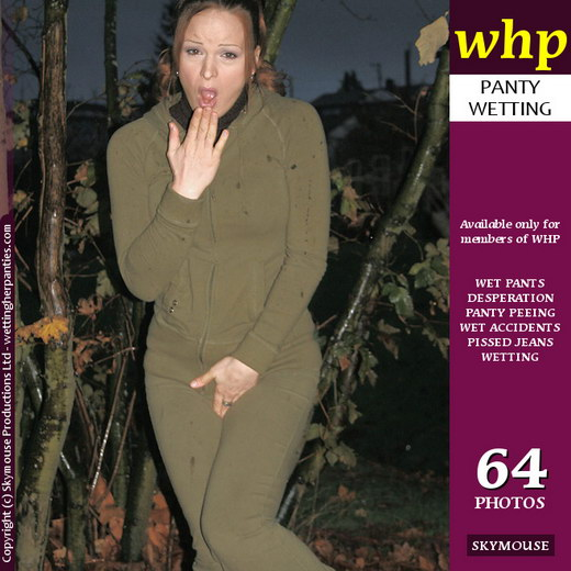 Janessa - `Janessa Wets Her Jumpsuit In The Woods` - by Skymouse for WETTINGHERPANTIES