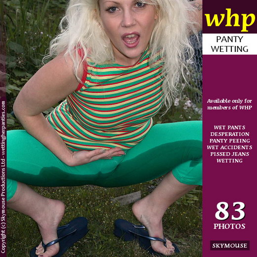 Saraphina - `Saraphina Naughtily Wets Her Tight Green Pants And Blue Panties` - by Skymouse for WETTINGHERPANTIES