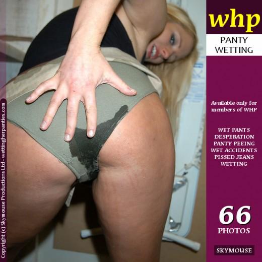 Kaz B - `Kaz B Pees Through Her Military Panties` - by Skymouse for WETTINGHERPANTIES