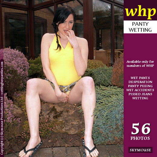Jewels - `Jewels Makes A Point In Wetting Her Panties Outdoors` - by Skymouse for WETTINGHERPANTIES