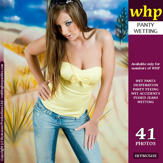 Cate H - `Cate H Wets Her Jeans In The Desert` - by Skymouse for WETTINGHERPANTIES
