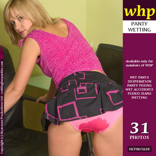 Laurita - `Laurita's Pink Panties Develop A Soggy Dark Wet Patch` - by Skymouse for WETTINGHERPANTIES
