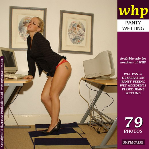 Nicki - `A Desperate Nicki Wets Her Panties In The Office` - by Skymouse for WETTINGHERPANTIES