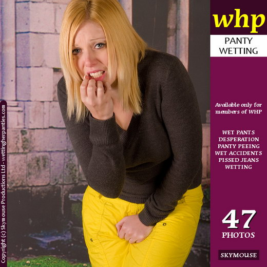 Shay Hendrix - `A Desperate Shay Hendrix Tries To Save Her Jeans` - by Skymouse for WETTINGHERPANTIES