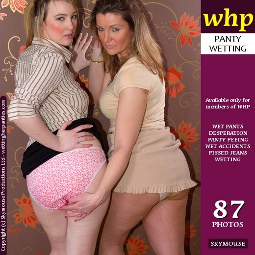 Katie K & Jackie Brown - `Get Very Friendly Over A Double Pee` - by Skymouse for WETTINGHERPANTIES