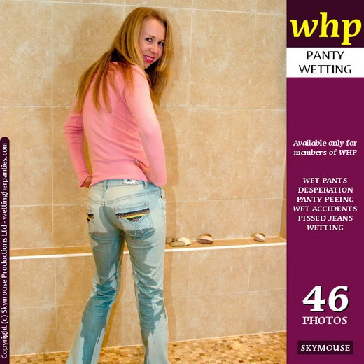 Petra N - `Petra's Light Coloured Jeans Turn Much Darker After A Long Pee` - by Skymouse for WETTINGHERPANTIES