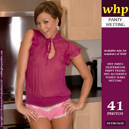 Natalia - `Natalia Gleefully Pees Her Panties In The Kitchen` - by Skymouse for WETTINGHERPANTIES