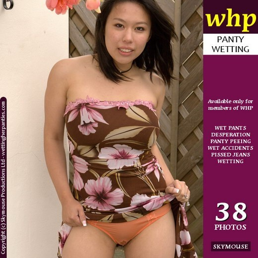 Koko Li - `Koko Li's Orange Panties Show The Wet Patch Very Well` - by Skymouse for WETTINGHERPANTIES
