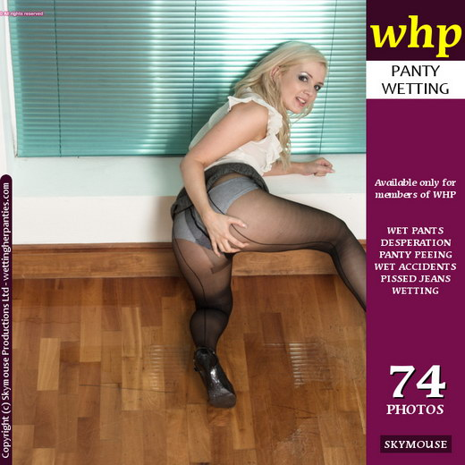 Faye - `Faye Wets Her Pantyhose` - by Skymouse for WETTINGHERPANTIES
