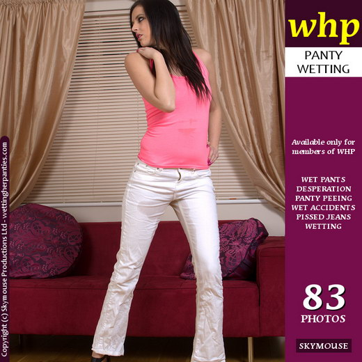 Mckenzie - `Mckenzie's White Jeans Get A Good Soaking` - by Skymouse for WETTINGHERPANTIES