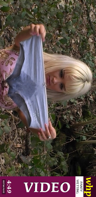 Faye - `Faye wets her nice cotton panties in the countryside` - by Skymouse for WETTINGHERPANTIES