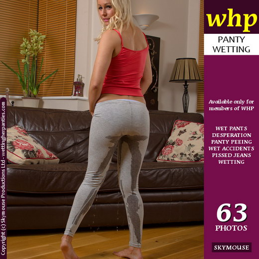 Mia - `Grey Leggins Show Mia's Wetting Really Well` - by Skymouse for WETTINGHERPANTIES