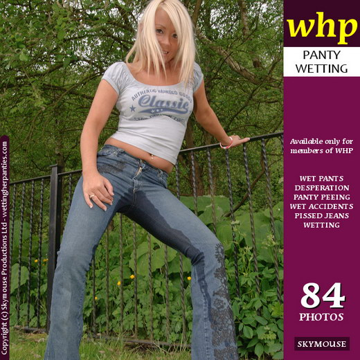 Becky Boo - `Becky Boo Has An Outdoor Jeans Wetting` - by Skymouse for WETTINGHERPANTIES