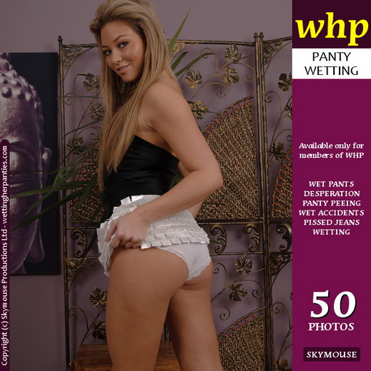 Natalia - `Natalia Deliberately Wets Her Cotton Panties` - by Skymouse for WETTINGHERPANTIES