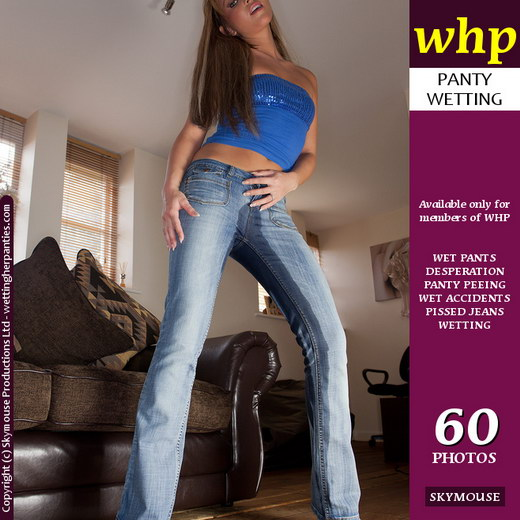 Natalia - `Natalia Has An Accident In Her Tight Blue Jeans` - by Skymouse for WETTINGHERPANTIES