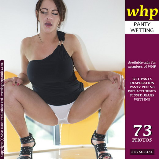 Vickie Powell - `Vickie Powell Squats Down To Pees Her Panties` - by Skymouse for WETTINGHERPANTIES