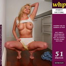 Amber Jayne wets her white panties in the kitchen